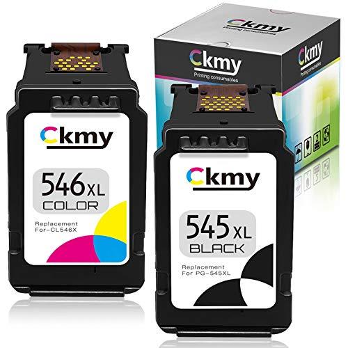 CKMY Remanufactured PG-545XL CL-546XL Tintenpatronen 545 XL 546 XL Schwarz Farbe Druckerpatrone für Canon Pixma TR4550 MG2450 MG2550 MG2550S MG2555S MG2950 MG3050 MG3051 MG3052 MG3053 MX495 Ip2850