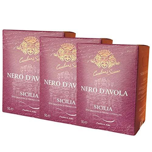 Rotwein Italien Nero d`Avola Codici Bag in Box trocken (3x5L)