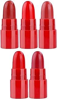 Perfk 5本 赤い ミニ 旅行 口紅キット マット 長持ち 液体 リップグロスペン 保湿 防水性 持ち運び 便利