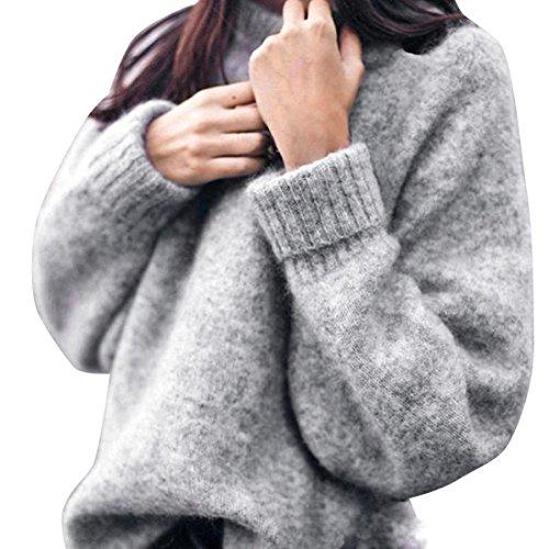 Ronamick Damen Sweatshirt Pullover Langarm Pullover Bluse Loose Knitwear Casual Tops Sweatshirt Geben Sie die erste Bewertung für diesen Artikel ab (m)