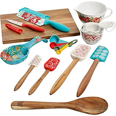 The Pioneer Woman 20 Piece Kitchen Gadget Utensil Set (Vintage Floral) by Gibson Overseas Inc.