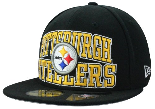 New Era Casquette Pittsburgh Pirates LOGO STACK ON NFL - Fitted - Teamfarben | Taille 6 7/8 + Bandana gratuit