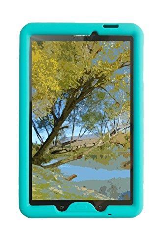 Bobj Rugged Case for Samsung Galaxy Tab E 9.6 (SM-T560, SM-T560NU, SM-T567, SM-T567V) - BobjGear Custom Fit - BobjBounces Kid Friendly (Terrific Turquoise)