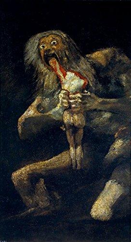 Saturn Devouring His Son - (Artist: Francisco Goya c.1819) - Masterpiece Classic (12x18 Art Print, Wall Decor Travel Poster)