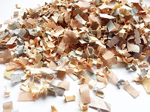 Peach Charcoal Grey Copper Rose Gold Biodegradable Paper Confetti Wedding Party Decorations (25 Handfuls)