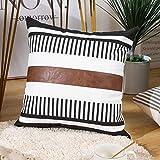 BOYSUM Bedding Decorative Modern Pillow Covers Faux...