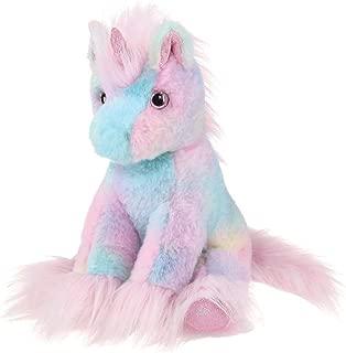 Bearington Glisten Plush Rainbow Unicorn Stuffed Animal, 12 Inches