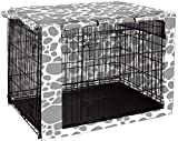 Chengsan Housse de cage à chien à double porte, durable et coupe-vent, pour cage métallique - protection intérieure et extérieure