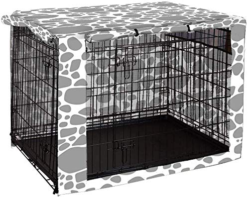 chengsan Double Door Dog Crate Cover, Durable Windproof Pet Kennel Cover...