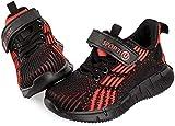 Vunavueya Niños Zapatillas Deportivas Niñas Zapatos de Correr Calzado de Deportes de Exterior Niño Zapatillas de Running Sneakers Rojo 29 EU(30CN)