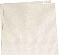 Strictly Briks Classic Baseplates for Building Bricks 100% Compatible with Major Brands | Building Bases for Tables, Mats and More! | 2 Base Plates in White 15.75