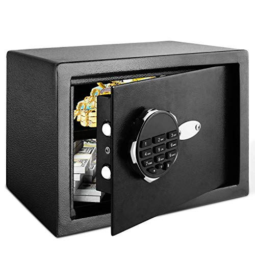 Himimi Safe Tresor Elektronischer Safe Schlüsseltresor Wandsafe Möbeltresor Elektronisches Zahlenschloss 35x25x25cm, 16,4L