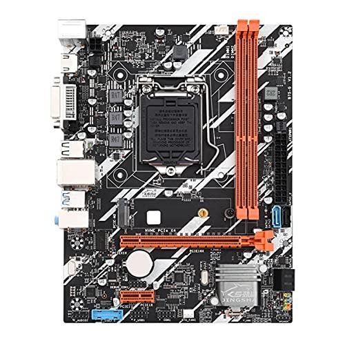 Greatangle-UK Placa Base B75-G Lga 1155 DDR3 VGA DVI Sataiii USB3.0 para Intel LGA1155 Core I7 I5 I3 Xeon CPU procesadores Placa Base 1155 Negro