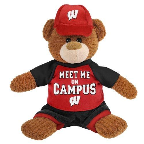 FOCO NCAA Wisconsin Badgers 10' PLUSH CORDUROY BEAR10' PLUSH CORDUROY BEAR