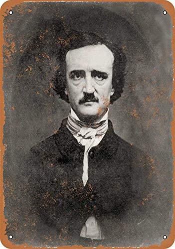niet Edgar Alan Poe Portret Metalen tin teken schilderij decoratie Populaire IJzeren Schilderij Poster Voor bar cafe eetkamer huis club