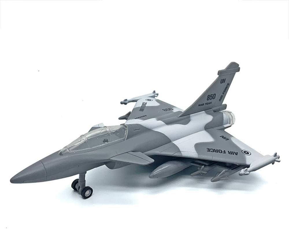 DLC Mod/èle Avion Jouet,Mod/èle DAvion En Alliage Combattant Fran/çais Rafale Simulation Son Et Lumi/ère Guerrier Jouet Mod/èle Combattant//Gray // A