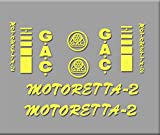 Ecoshirt BC-QDUK-5FD2 Pegatinas Bicicleta Motoreta R303 Stickers Aufkleber Decals Autocollants Adesivi, Amarillo
