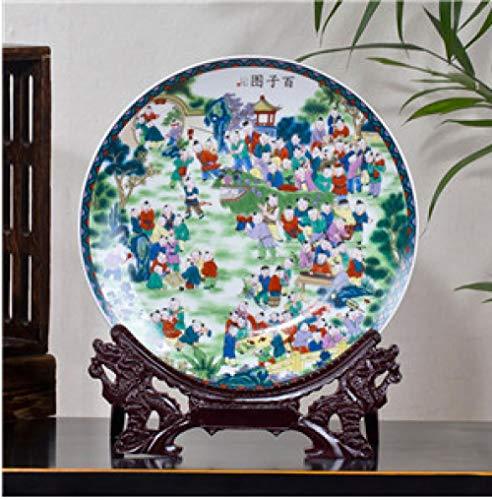 Jingdezhen Keramische Antieke Schoonheid Porselein Plaat Twaalf Blond Haar Clip Schoonheid Woonkamer Hotel Porselein Decoratie Plaat