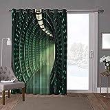 YUAZHOQI cortinas correderas de cristal para puerta exterior, pasillo de una nave espacial, 100 x 108 pulgadas de ancho Panel de puerta corredera de vidrio para Oversleep (1 panel)
