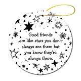 Good Friends are Like Stars Quote Ornament Fashionable Personalized Ornament,Great for Christmas Tree