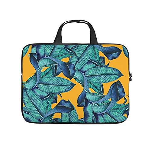 Funda protectora de neopreno suave con diseño de hojas de plátano tropical con impresión 3D para ordenador portátil, funda elegante para tableta para mujeres y hombres