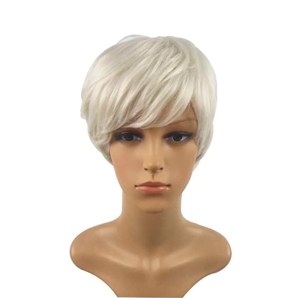 苦アラバマSummerys 短い巻き毛のかつら髪かつら女性のための自然な耐熱フルウィッグ