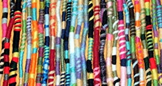 Surprise Colors Hippie Hair Extension, Qty: 1 Dreadlocks Accessory, Dread Wrap, Hair Fall, Hair Wrap, Colorful Accessories for Dreads, Braids, Curls …