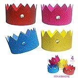 Inedit Festa El JOC de la Princesa Corona cumpleaños Feliz cumpleaños Princesa 4 Coronas Princesa Disfraz Princesa Corona cumpleaños Goma eva Amigo Invisible Regalos Graciosos