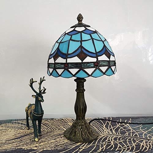 Lámpara de mesa YUKI Tiffany Retro de 20 cm de dormitorio