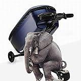 DJLOOKK Maleta de Viaje eléctrica para niños, Bolsa de Equipaje de Skate de Viaje Inteligente para niños, Maleta de embarque con Carrito para Estudiantes, Maleta con Carga USB para Scooter,Wheel 12cm