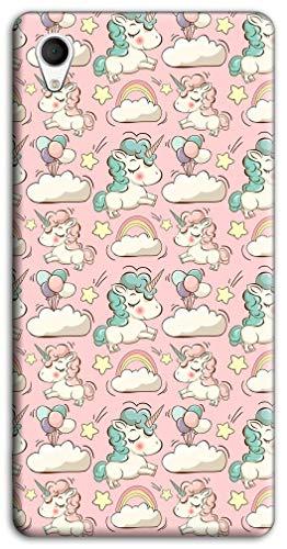 Mixroom - Cover Custodia Case in TPU Silicone Morbida per ASUS Zenfone Live L1 ZA550kl 5.5' Fantasia Unicorni E Nuvolette M768