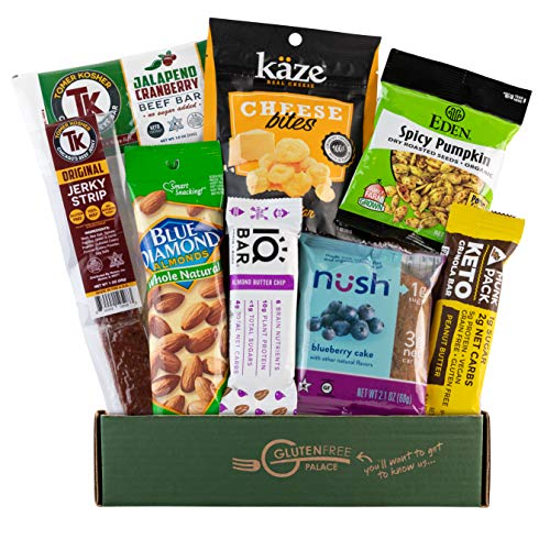 KETO BOX SAMPLER - Keto Bars, Grass-fed Beef, Cheese Crisps, Nuts & Seeds, Gluten Free, Low Carb Snacks [8 Count] Keto Snack Box - MOTHERS DAY GIFT BASKET GLUTEN FREE