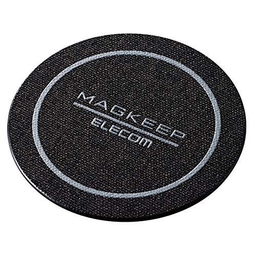エレコム マグネットステッカー Magkeep 【 iPhone12 / 12 Pro シリーズ対応 】 1枚入り ファブリック(ブラック) AMS-DSSTFBK