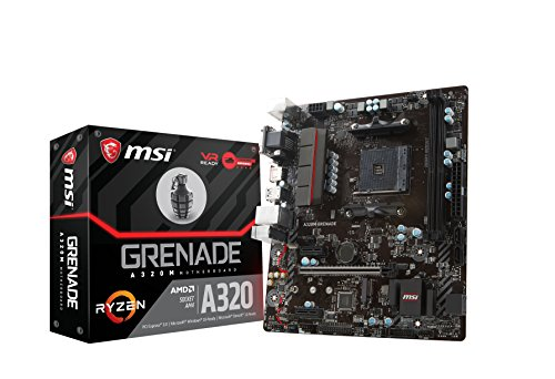 MSI A320M Grenade Arsenal - Placa Base (AMD AM4 Chipset A320M, DDR4 Boost, Gaming LAN, Audio Boost, Military Class V)