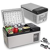 Portable Freezer – AC/DC Portable Refrigerators for Car Low Noise Camping Fridge LED Display Electric Truck Cooler – 15 Quart (15 Liter) Capacity