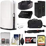 SlingStudio Hub Portable Wireless Broadcast HD Video Production Unit + Battery Pack + 2x Wireless CameraLinks + USB-C Expander + 128GB Card + Case Kit