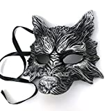 MasqStudio Black Silver Wolf Mask Animal Masquerade Halloween Costume Cosplay Party mask