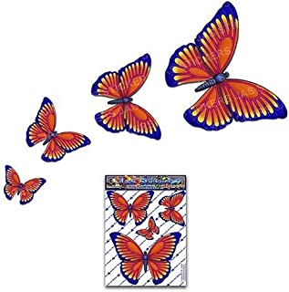 Small Orange BUTTERFLY Animal Vinyl Sticker Decal Pack For Car, Caravans, Trucks, Boats ST00025OR_SML - JAS Stickers