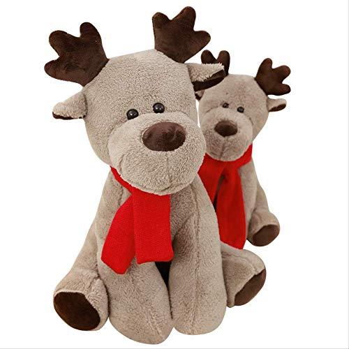 Knuffel, Schattige Sneeuwpop Elk Doll Christmas Bear Knuffel Festival Decoratie Ragdoll Partij Voor Kid Girl Gift 28cm elanden