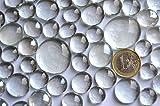 400g Glasnuggets glasklar-weiß 4 versch. Größen 13-33 mm, ca. 116 St - 4