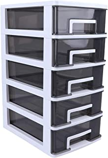 WINOMO Stacking Drawer Storage Box Foldable Storage Cubes Bin Box Containers for Home Office Nursery Closet Bedroom Living...