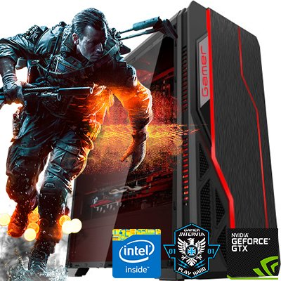 Computador Gamer Intervia Core i7 3.40 Radeon RX 5704GB DDR5 HD 1TB 8GB DDR3