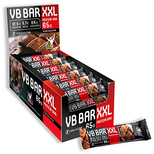 [NOVITA!!] NET VB BAR XXL 24 x 65g (TORTA SACHER), solo 243kcal,LOW CARB, 32,5g proteine/bar,0,6g zuccheri/bar, ricca di BCAA -NT INTEGRATORI