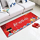 AC Alfombra de la casa-Alfombra-Alfombra de poliéster Rojo Diseño de la Sala de Matrimonio Alfombra Dormitorio Otomanas para el hogar 50 * 80CM / 60 * 90CM / 80 * 120CM / 60 * 160CM / 100 * 160CM -