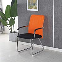 デスクチェア オフィスチェア パソコンチェア 学習椅子 椅子 イス ワークチェア 事務用椅子ボウは、スタッフ、学生寮ミーティングチェアコンピュータチェアホーム椅子会社の椅子を麻雀椅子オフィスチェアメッシュ,オレンジ