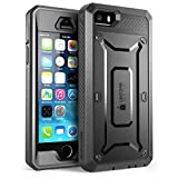 SUPCASE iPhone SE Case Cover, Full-Body Rugged Holster Case with Built-in Screen Protector for iPhone SE/5S/5, Unicorn Beetle PRO Series (Black) battery case for iphone 5s May, 2021