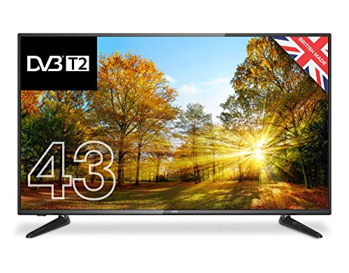 "Cello C43227T2 43"" Full HD LED TV with built-in Freeview T2 HD – UK Made"