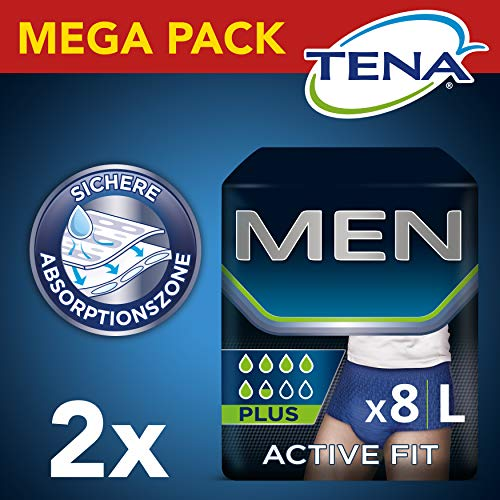 Tena Men Active Fit Pants Plus, maat L, 2-pack (2 x 2 stuks)