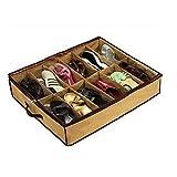 HuntGold, organizador para 12 pares de zapatos, almacenador para debajo de la cama