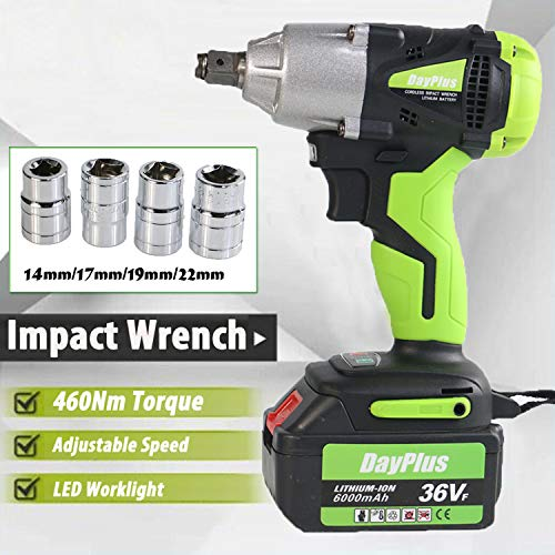 Best Review Of Lithium-ion Battery 18V 6.0 Ah For 1/2 Cordless Impact Wrench Kit